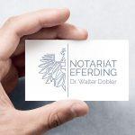 Apricity Studio portfolio Notariat Eferding Corporate Design
