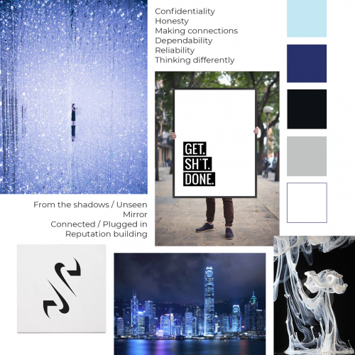New Media Ghost rebrand mood board - Apricity Studio