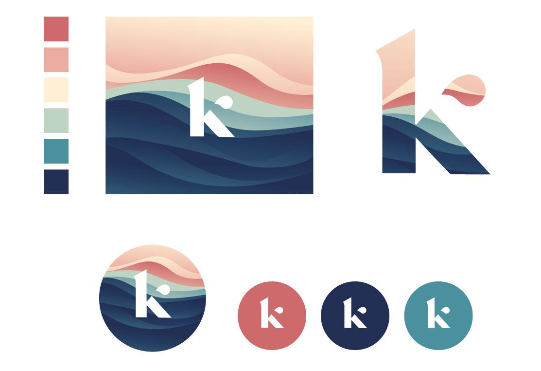 Kerry Bellamy rebrand logo system