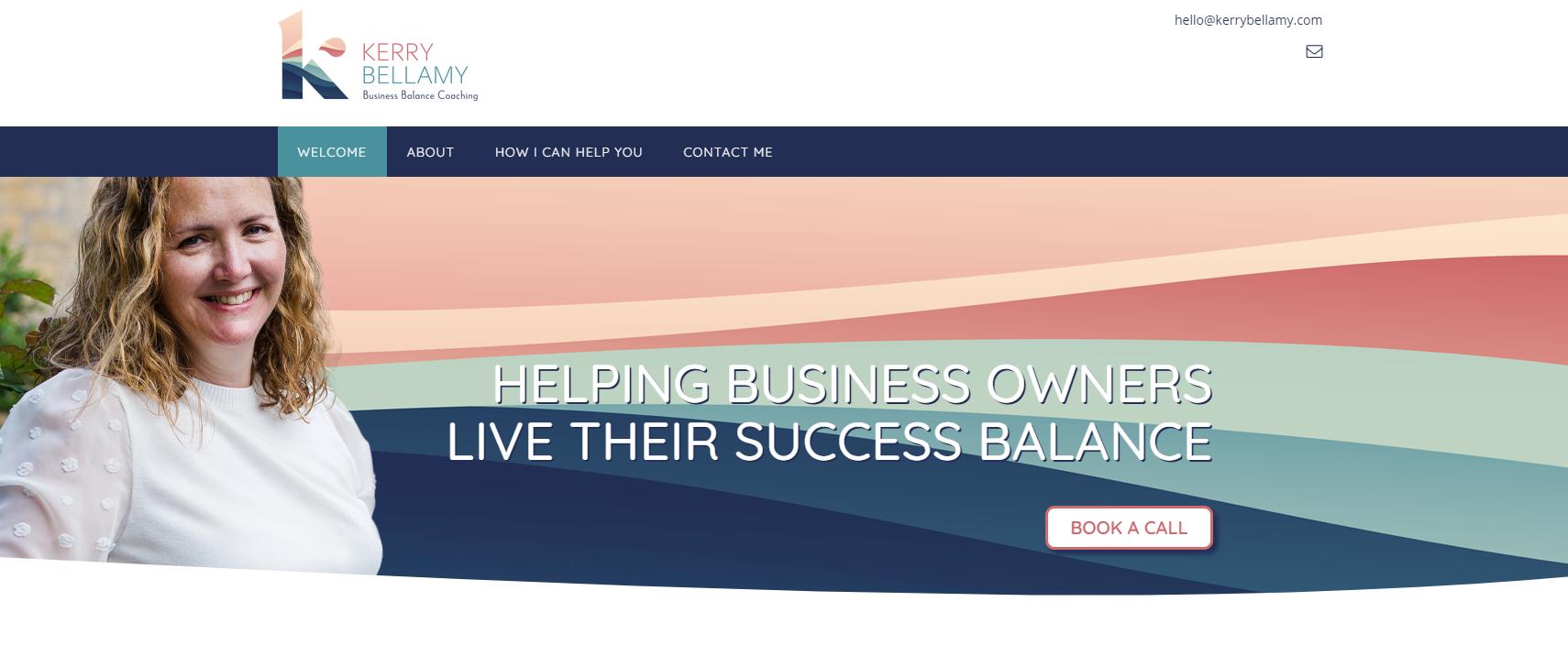 Kerry Bellamy rebrand Website banner